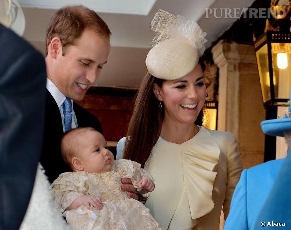 Prince George a les joues bien rondes déjà.