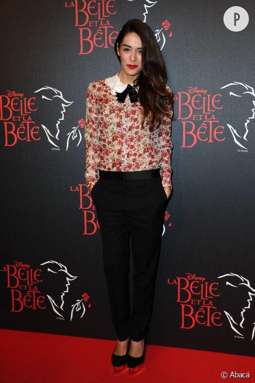 """Sofia Essaïdi, zéro faute à la première de """"La Belle et la Bête"""" à Paris le 24 octobre 2013."""