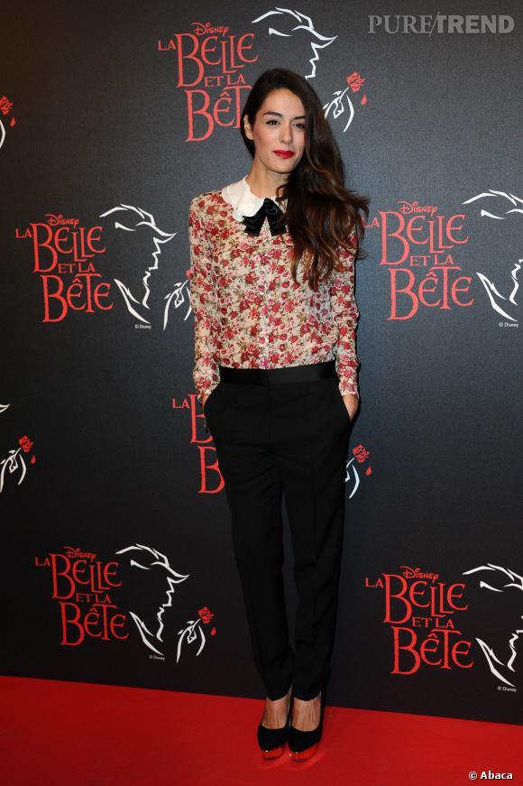 Sofia Essaïdi, un look un brin boyish et romantique réussi.