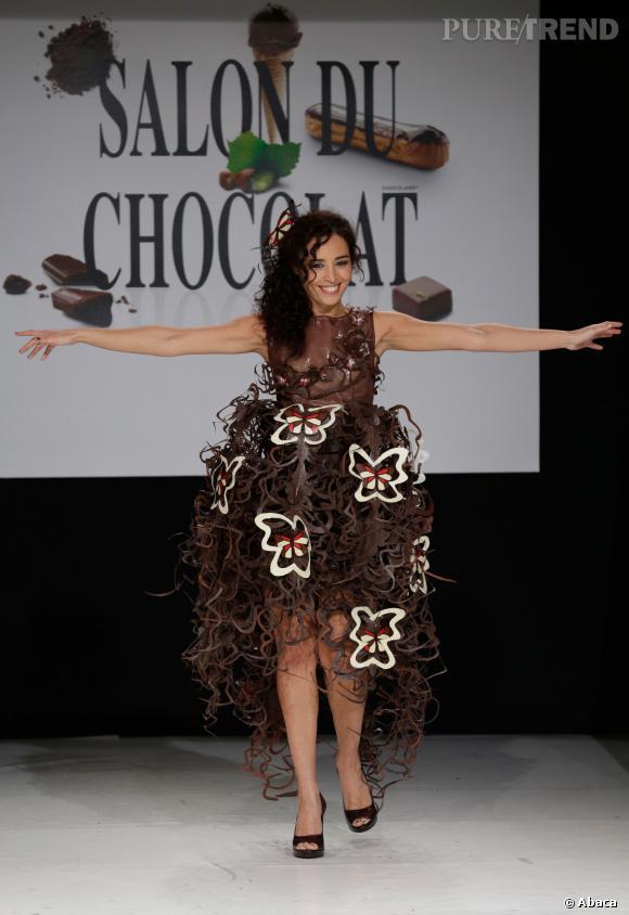 Aïda Touihri au défilé du Salon du chocolat 2013.