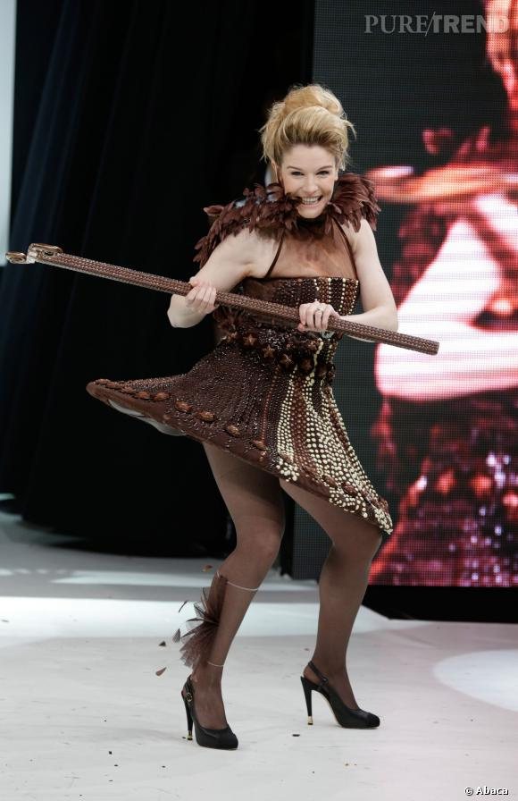 Louise Ekland au défilé du Salon du chocolat 2013.