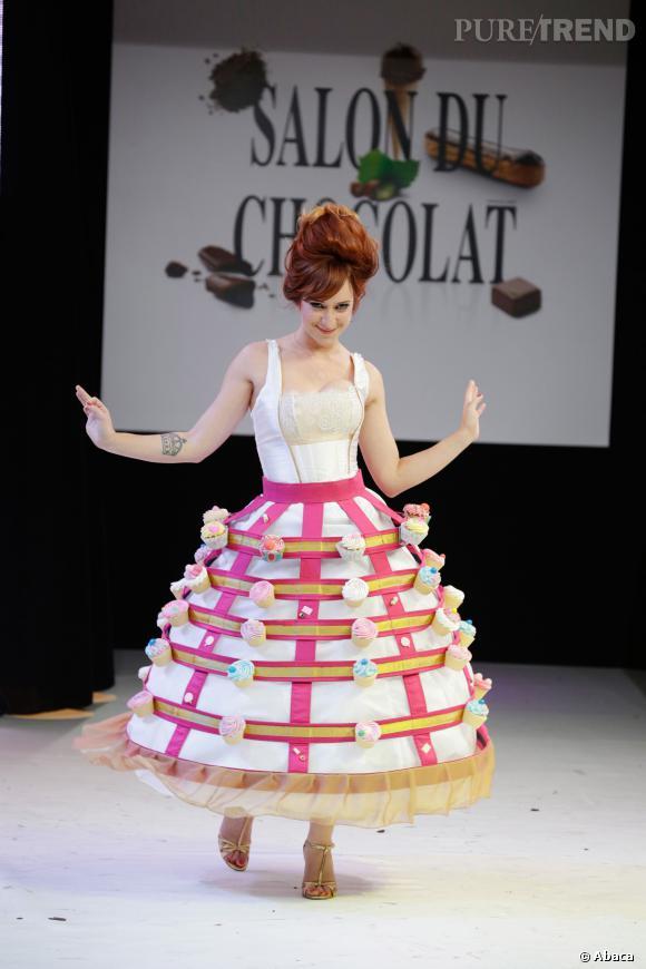 L'illustratrice Pénélope Bagieu au défilé du Salon du chocolat 2013.