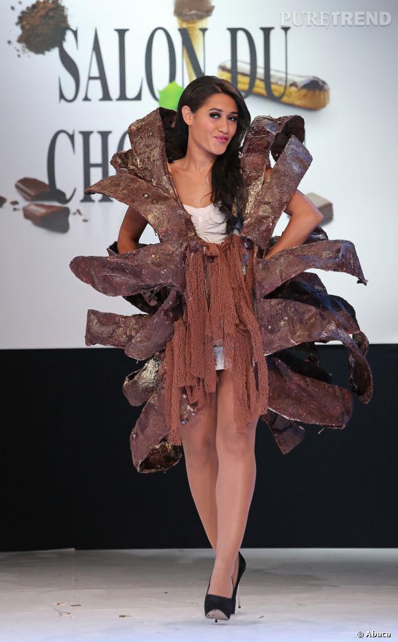 L'actrice Josephine Jobert au défilé du Salon du chocolat 2013.