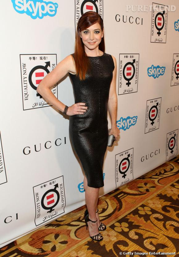 Alyson Hannigan à la soirée Equality Now : la star ose le cuir.
