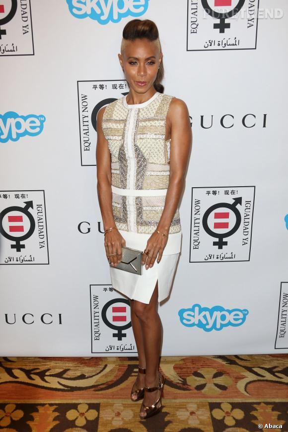 Jada Pinkett-Smith s'est voulue punkette glamour lors de la soirée Equality Now, mais s'offre un beau flop mode et beauté.