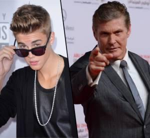 Justin Bieber conseille David Hasselhoff sur Twitter, belle ironie !
