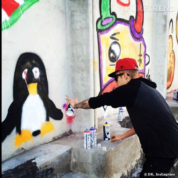 Car après avoir dévoilé son art au Brésil, il a appris que le tag était illégal et punissable de prison !