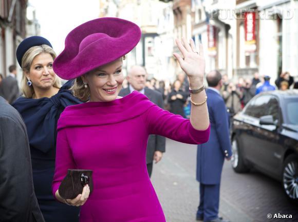 Mathilde de Belgique photobombée par Maxima des Pays-Bas.