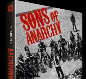 """""""Sons of Anarchy"""", pour consoler les fans de Charlie Hunnam qui ne retrouveront pas le beau gosse dans """"50 shades of Grey"""". DVD de la saison 5 au prix de 29.99 €."""