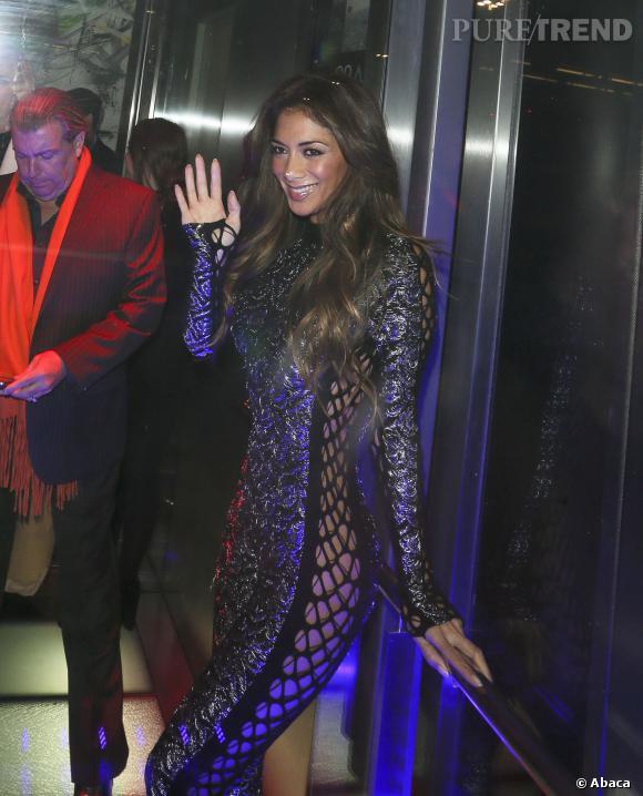 Nicole Scherzinger sans souvêtements lors de la soirée anniversaire du Sushi Samba de Londres.