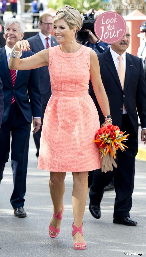 La Reine Maxima des Pays-Bas en visite officielle à Aruba dans les Antilles.