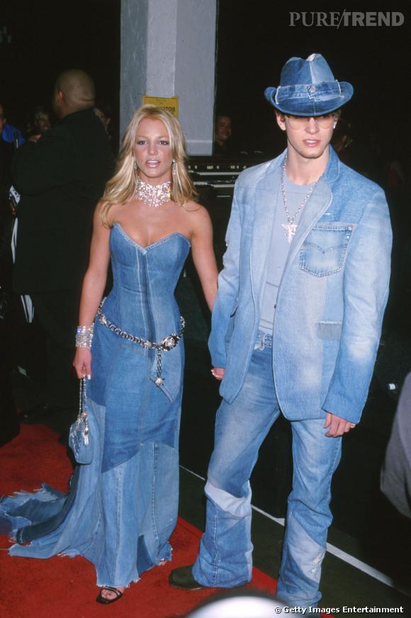 Britney Spears et Justin Timberlake en 2001.