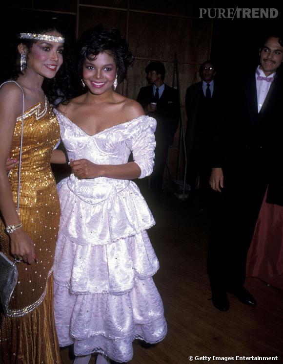 Latoya et Janet Jackson en 1985.