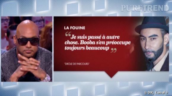 Booba et son clash avec La Fouine, éternelle querelle évoquée par les médias.
