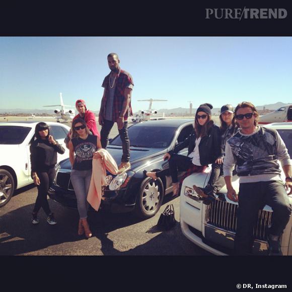 La famille Kardashian est la championne des braggies, comme ici en arrivant à Las Vegas.