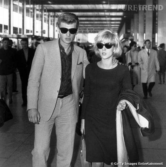 Johnny Hallyday et Sylvie Vartan, un couple mythique des années 60.