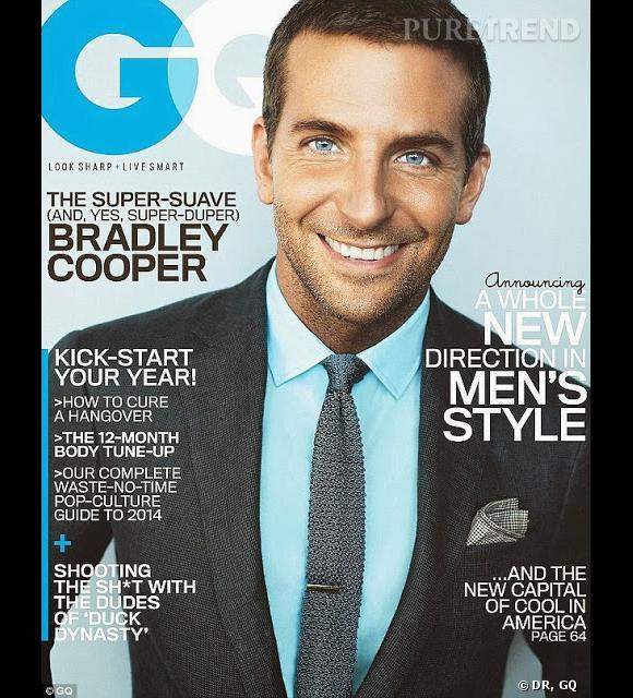 Bradley Cooper fait la Une du magazine GQ pour le premier numéro de 2014 !