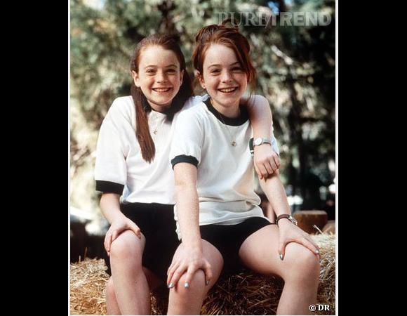 """Lindsay Lohan (x deux) plus jeune pour le film """"A nous 4""""."""