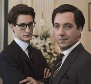 Pierre Niney et Guillaume Gallienne alias Yves Saint Laurent et Pierre Bergé.