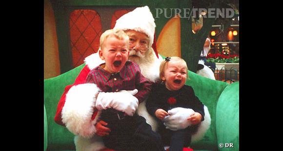 Les enfants qui pleurent avec le père noël : et des pleurs, encore.