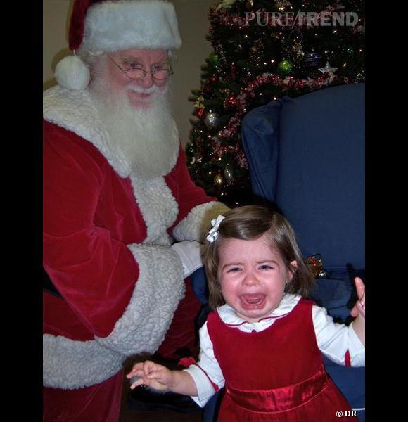 """Les enfants qui pleurent avec le père noël : la photo """"Lol""""."""