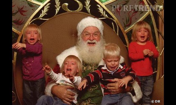 Les enfants qui pleurent avec le père noël : 4 blonds en colère.
