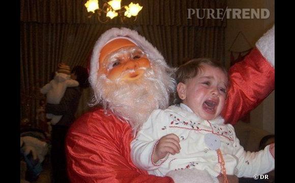 Les enfants qui pleurent avec le père noël : euh, oui mais bon...