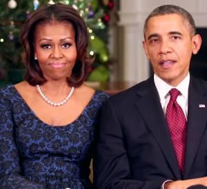 Michelle Obama et Barack Obama adressent une vidéo de Noël aix Américains.