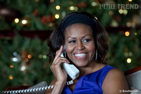 Michelle Obama annonce l'arrivée du Père Noël aux enfants américains...