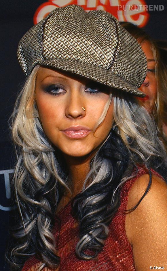 Christina Aguilera, ambassadrice du piercing au nez.