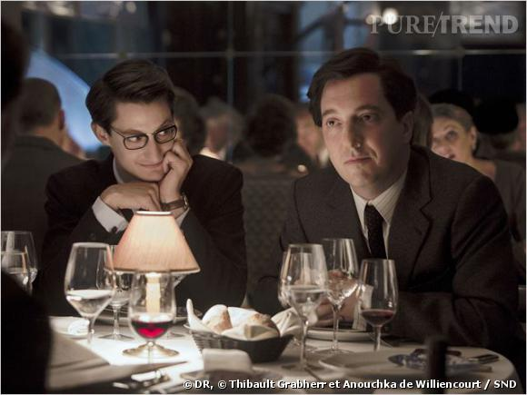 """Pierre Niney incarne Yves Saint Laurent tandis que Guillaume Gallienne campe le rôle de Pierre Bergé dans le film """"Yves Saint Laurent"""" de Jalil Lesper."""