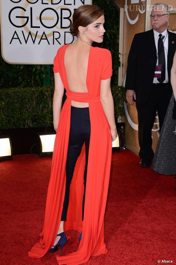 """Le top """"prise de risque"""" :  le mixe pantalon/robe Christain Dior casse la réputation trop sage d'Emma Watson."""