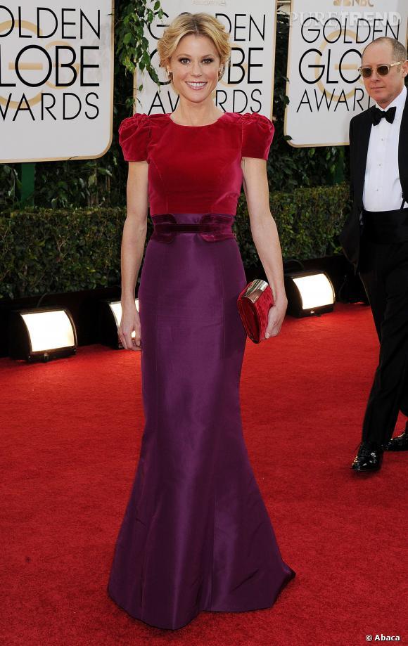 """Le top """"biolore"""" :  Julie Bowen en Carolina Herrera a tout compris lorsqu'il s'agit d'associer deux couleurs."""