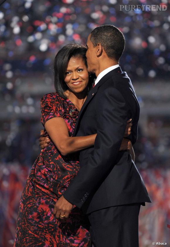 Michelle et Barack Obama, un couple toujours aussi amoureux.