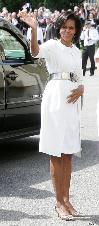 Michelle Obama voit la vie en blanc.