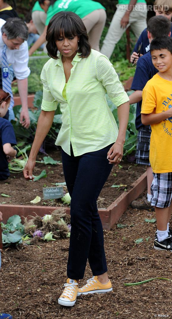 Lorsque Michelle Obama jardine, c'est toujours avec classe.