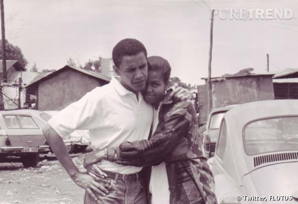 Michelle et Barack Obama en mode vintage.