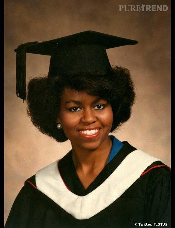 Michelle Obama lors de ses études.