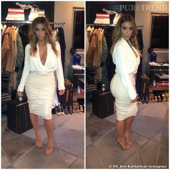 Kim Kardashian a craqué sa robe, il lui en faut une autre !
