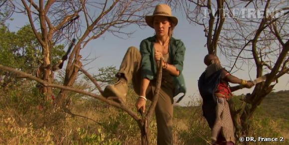 Mélissa Theuriau a découvert la vie rude des Maasaï.