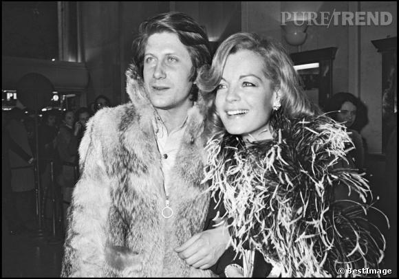 """Jacques Dutronc et Romy Schneider à la première du film """"L'important c'est d'aimer"""" en 1977."""
