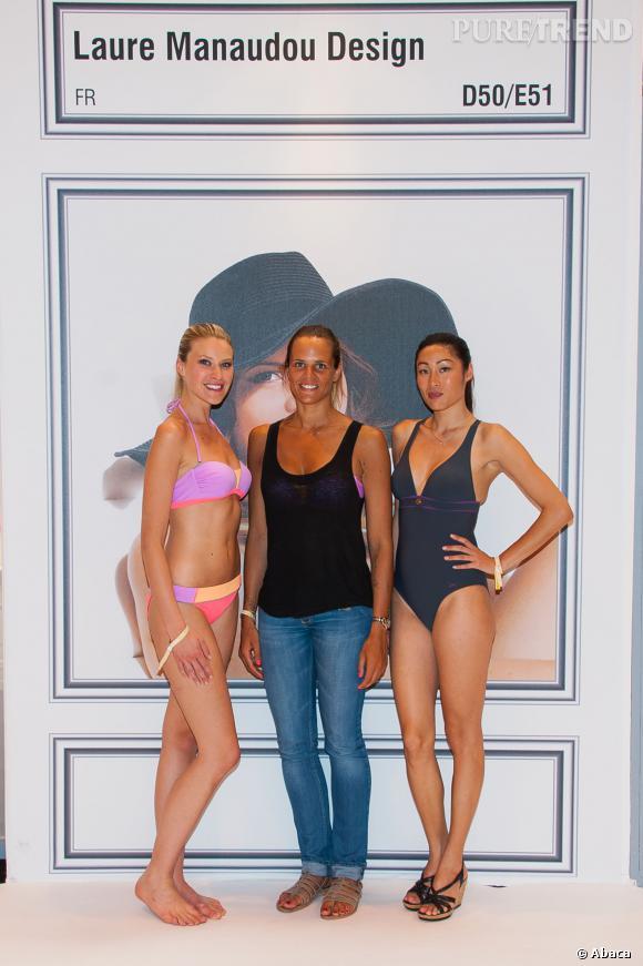 Laure Manaudou, en juillet dernier, pour présenter sa ligne de maillots de bain.