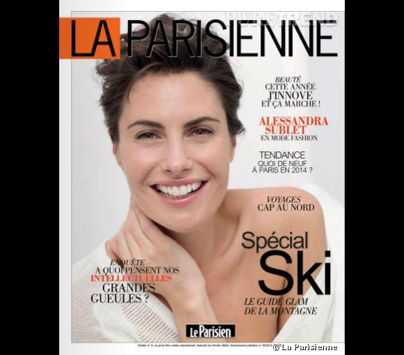Alessandra Sublet se livre dans La Parisienne du 1er février 2014.