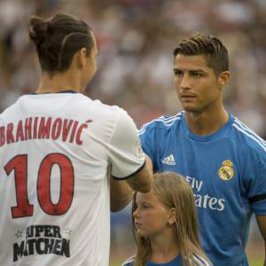 Zlatan Ibrahimovic et Cristiano Ronaldo, des rivaux notoires.