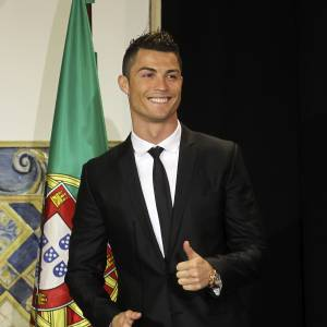 Cristiano Ronaldo, le ballon d'or 2013 a lui aussi de l'humour.