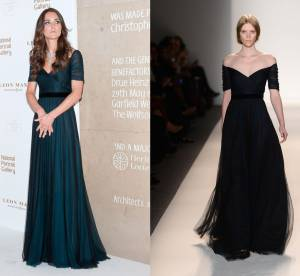 Kate Middleton vs le podium : la robe drapée Jenny Packham