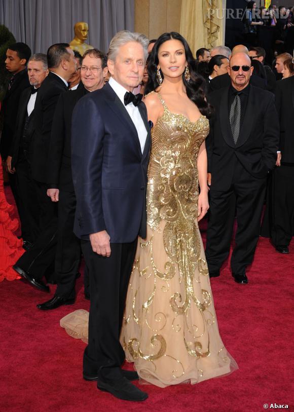 Michael Douglas et Cathetine Zeta-Jones, un couple toujours aussi glamour de respectivement 69 et 44 ans.