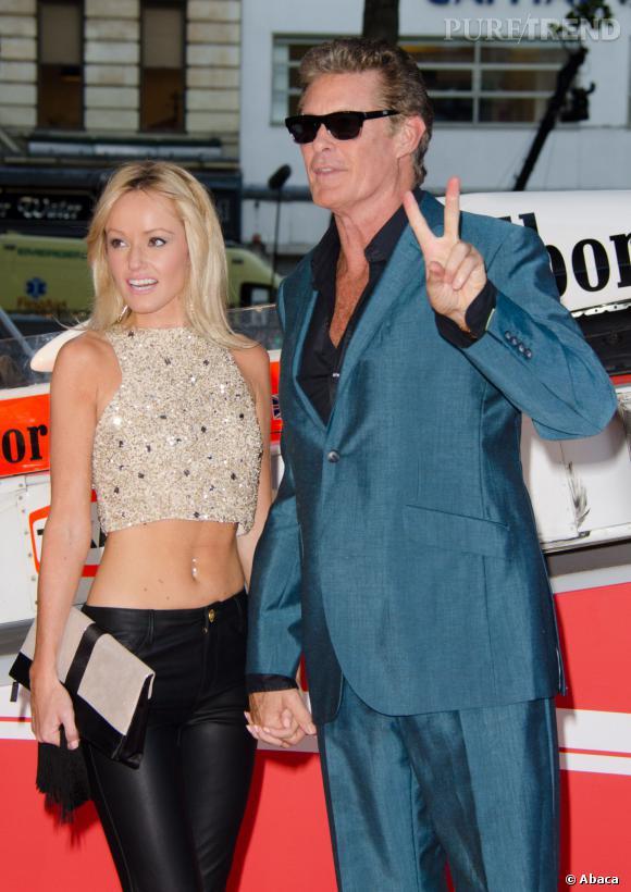 David Hasselhoff, 61 ans s'affiche avec une jolie blonde, Hayley Roberts de 22 ans.