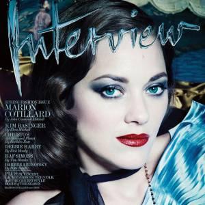 Marion Cotillard en Une du numéro de mars 2014 d'Interview.