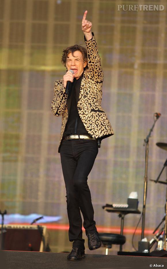 L'indétrônable Mick Jagger sur scène.